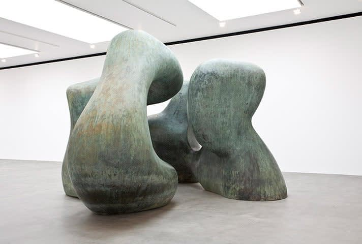 Moore's ''Large  Two Forms'' from  1966 at the  Gagosian Gallery in London.Credit...Mike Bruce/Courtesy Gagosian Gallery