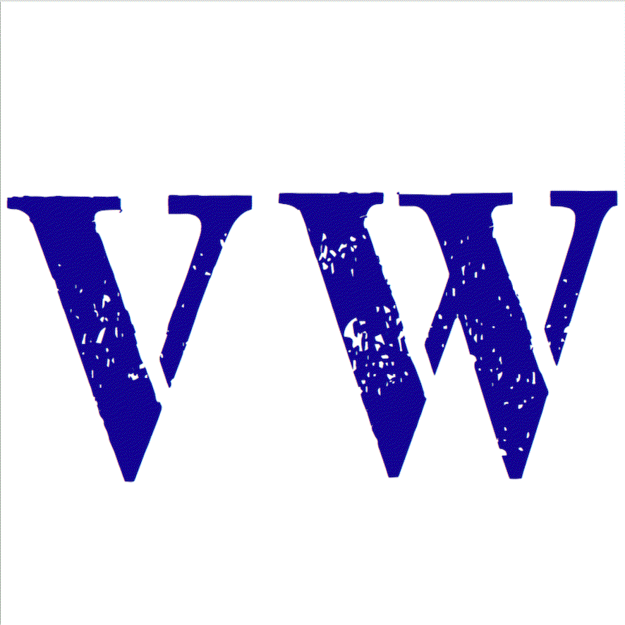 VW Contemporary Logo Mark in Blue