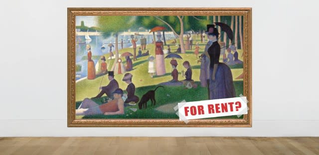 How to afford art, for rent