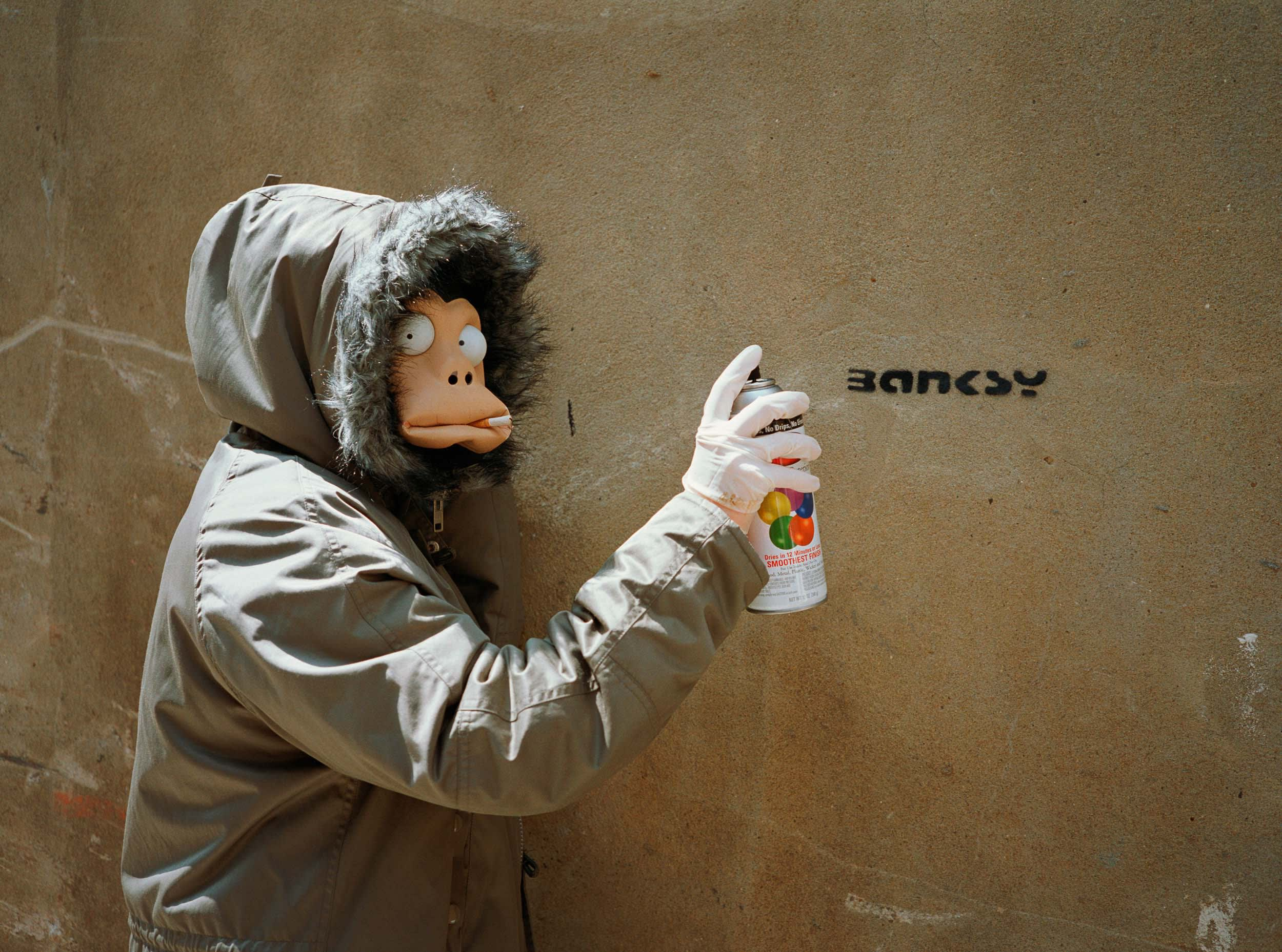 Banksy Monkey Mask Session James Pfaff