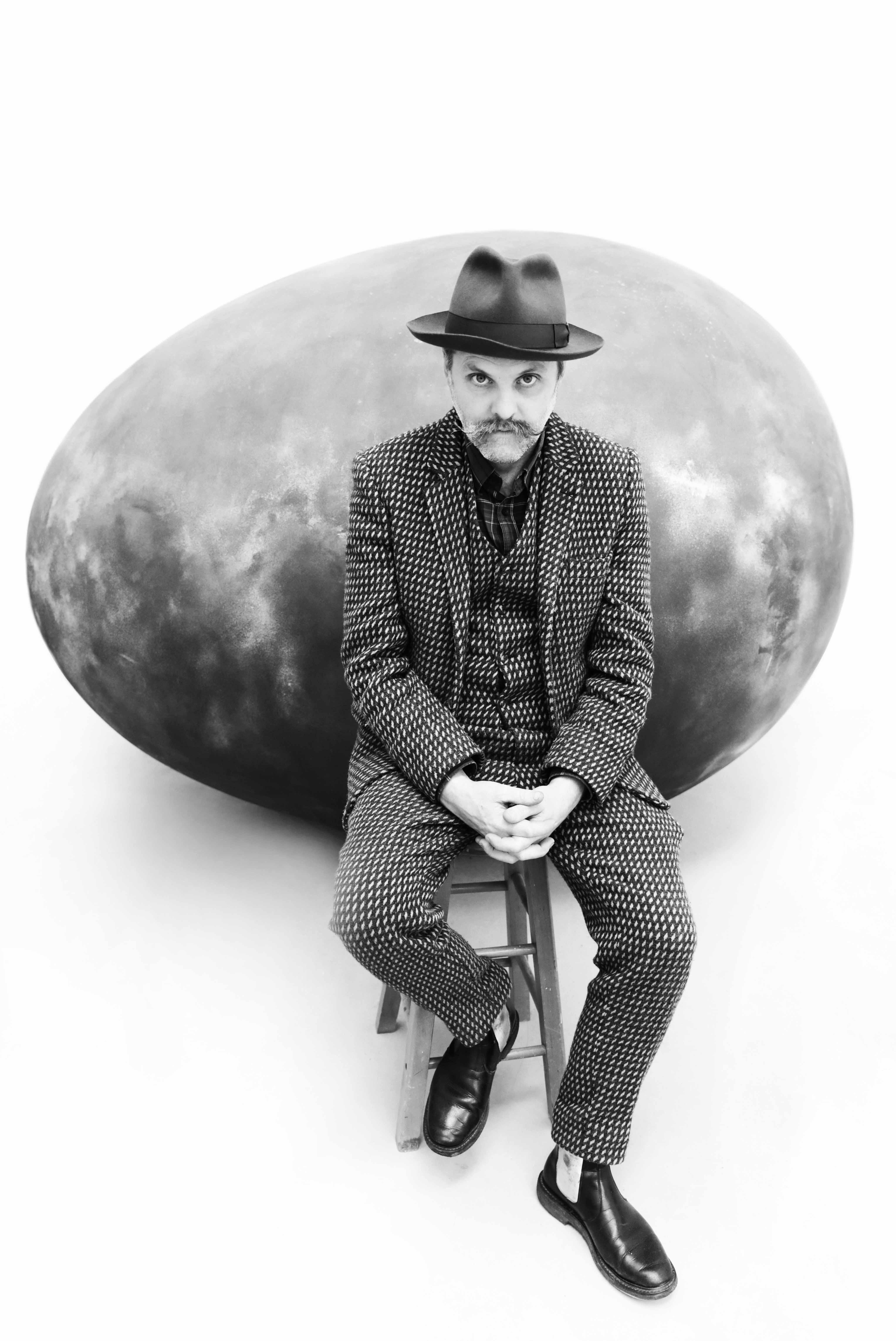 Portrait of artist Gavin Turk