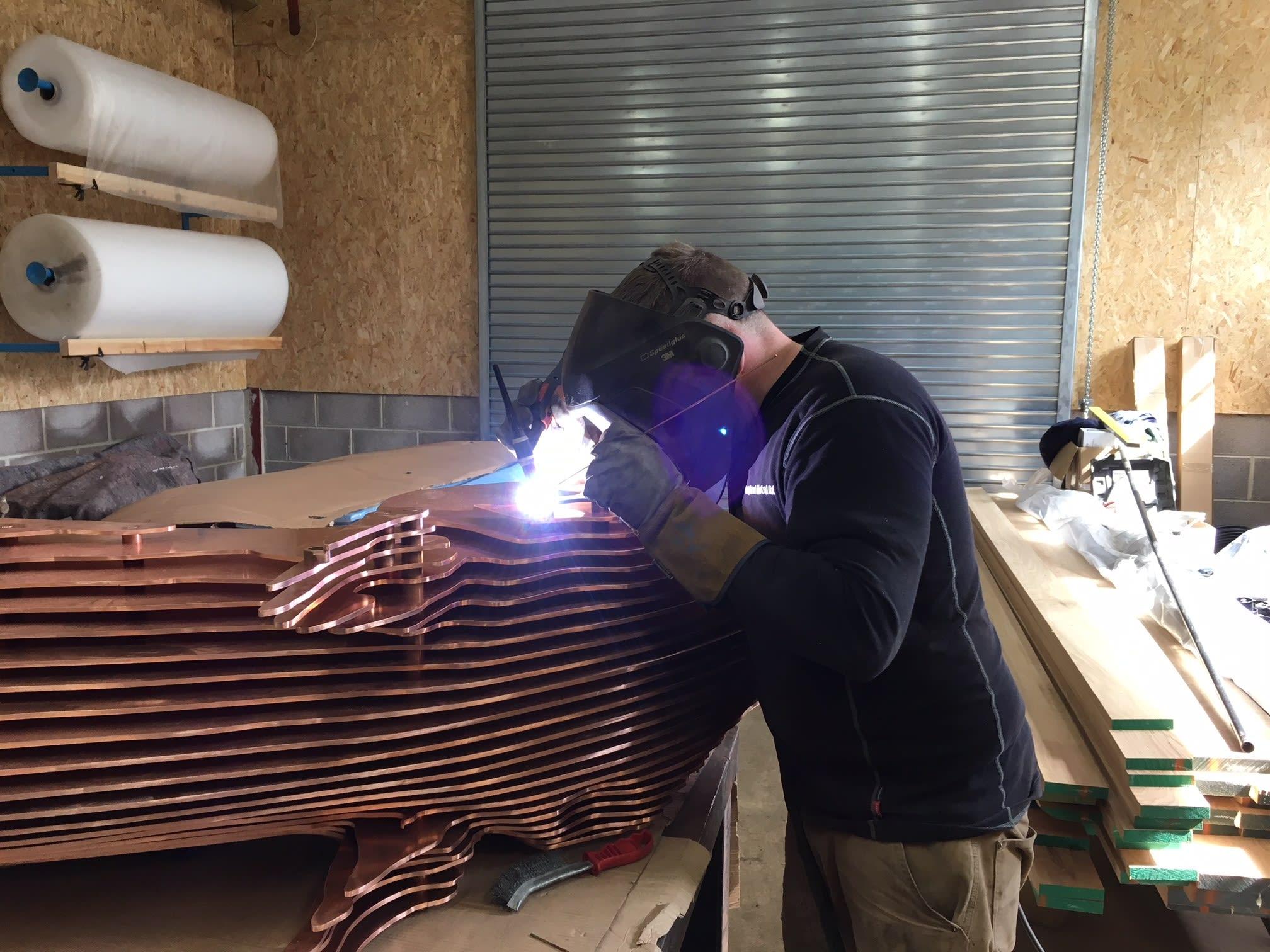 fabricated metal horse