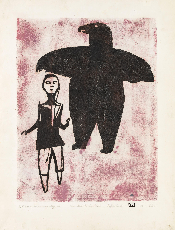 Pictured Opposite: TUDLIK (1890-1966), Bird Dream Forewarning Blizzard, 1959