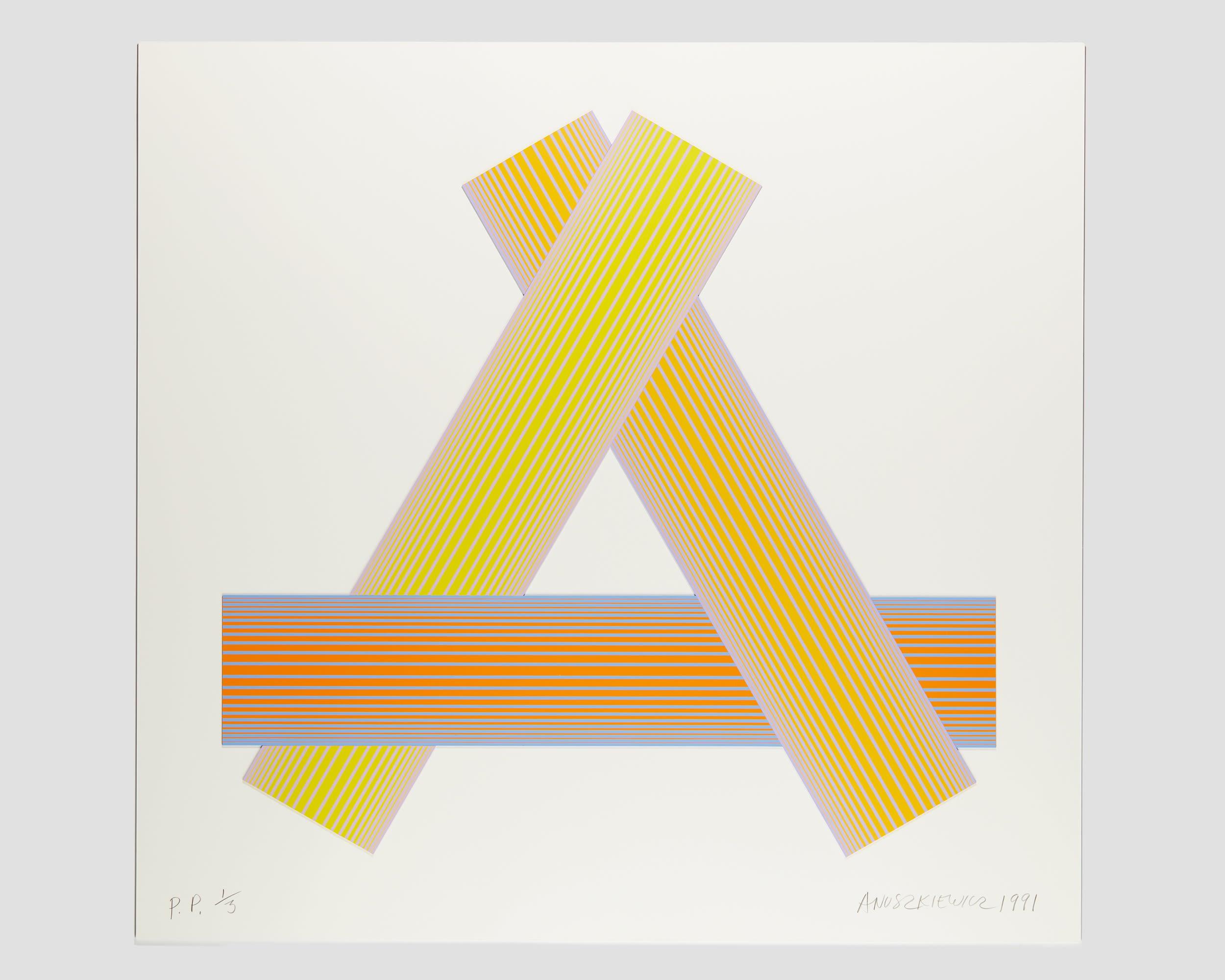 Richard Anuszkiewicz Print- Form & Concept Gallery