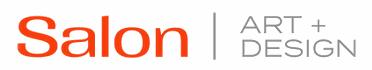 Red and Grey Salon Art + Design Logo