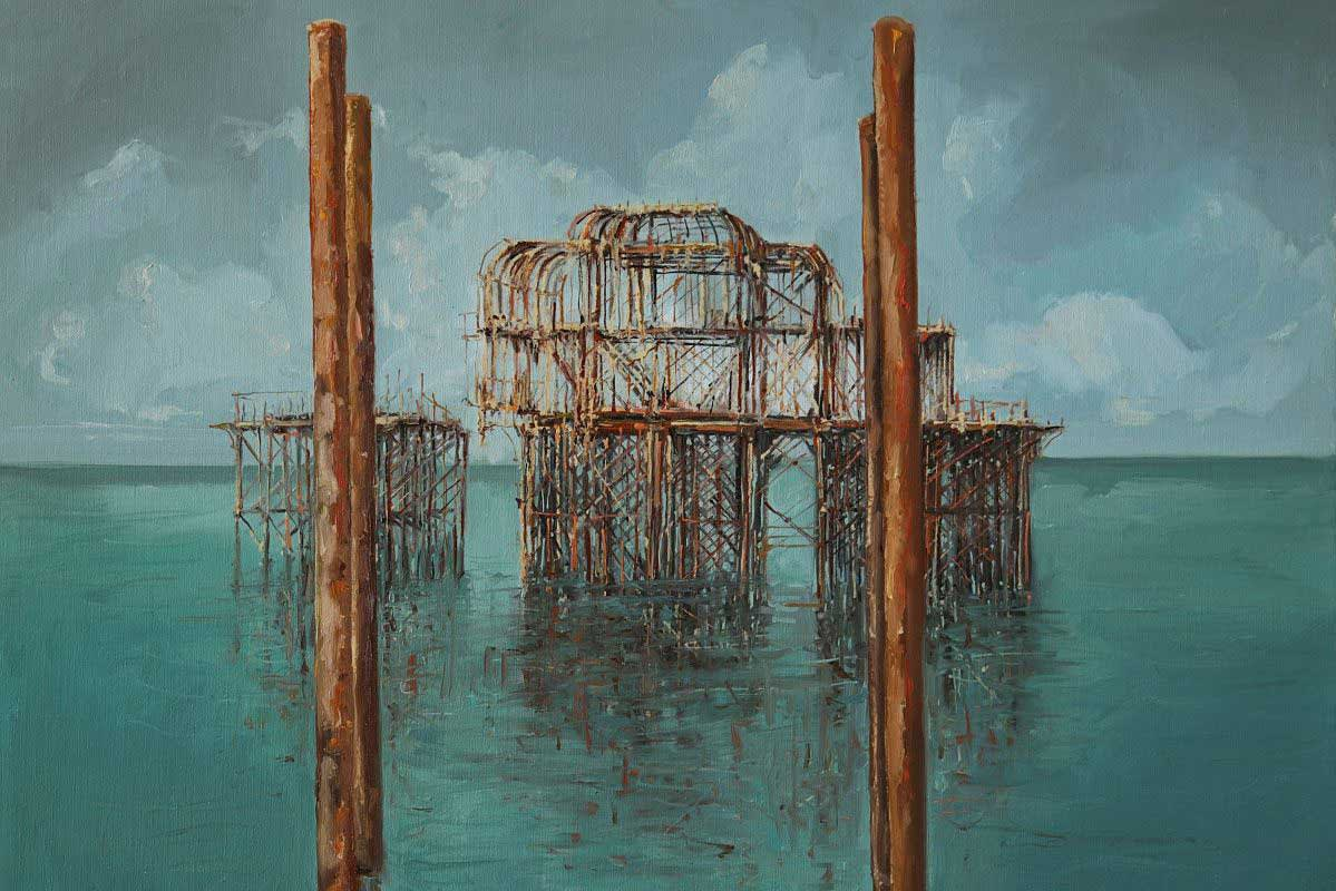 Gerard Byrne 'Fragility of Life' West Pier Brighton & Hove, UK