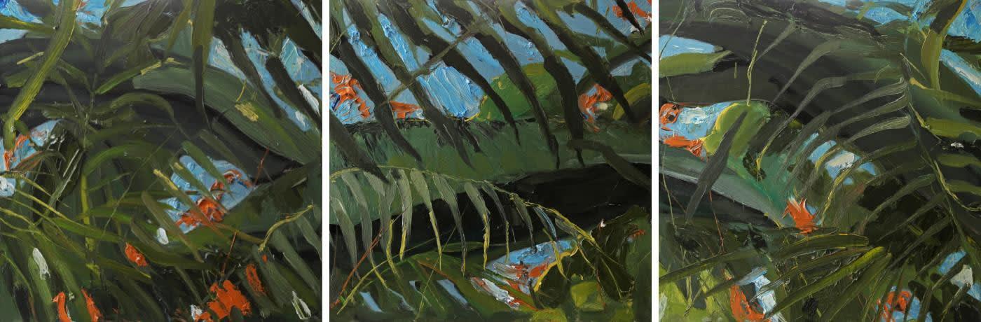 Gerard Byrne 'Forever Green II' triptych