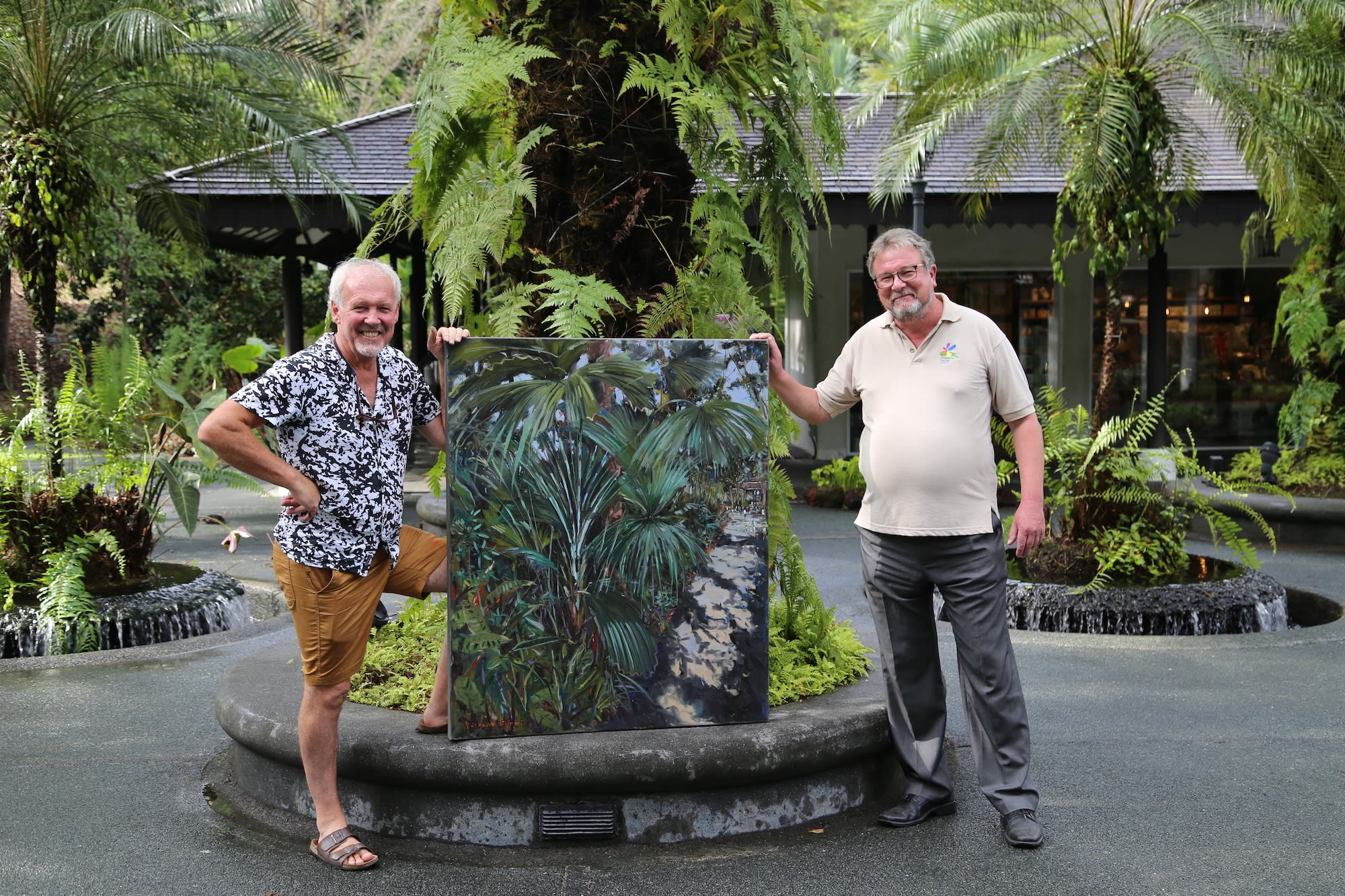 Gerard_Byrne_Dr_Nigel_Taylor_Jungle_Vibes_painting_permanent_art_collection_Singapore_Botanic_Gardens