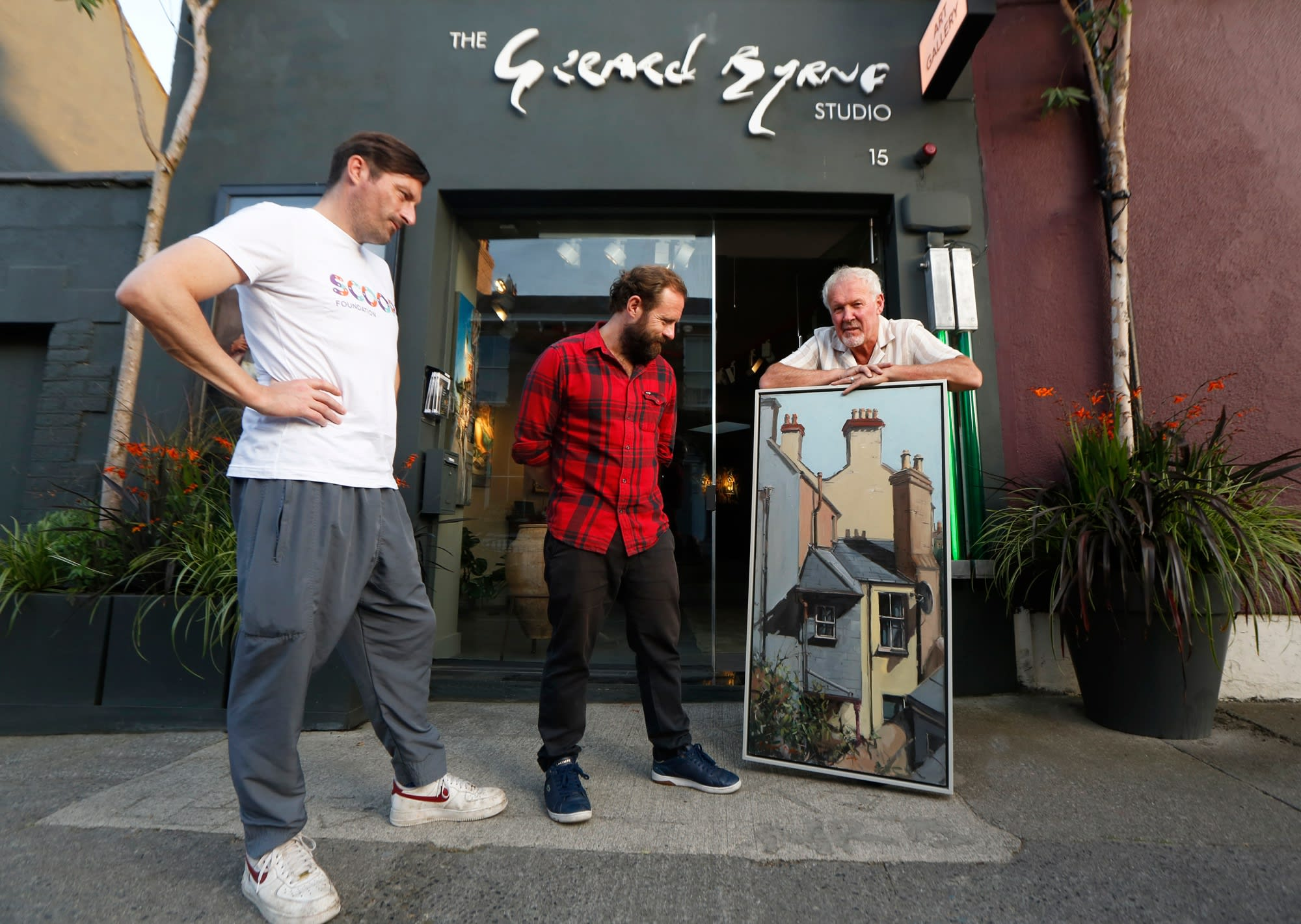 SCOOP_Foundation_Fundraiser_Gerard_Byrne_The_Artist_On_the_Roof_oil_painting_art_raffle