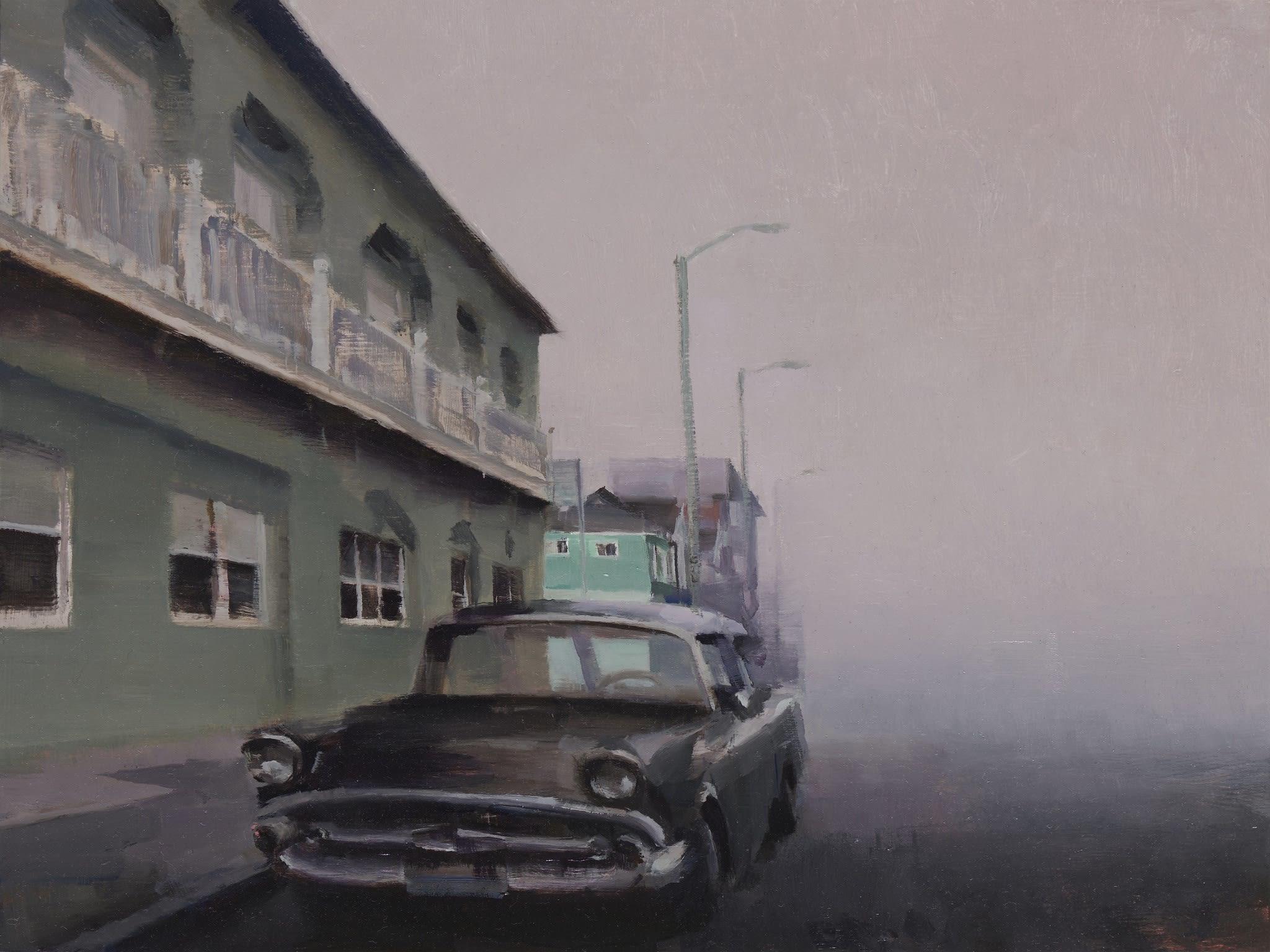 detail view of Kim Cogan's painting