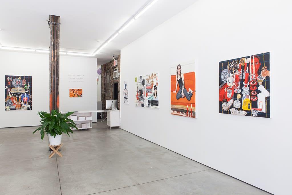 "Installation image of Emilio Villalba's ""People & Things"" at Hashimoto Contemporary NYC"