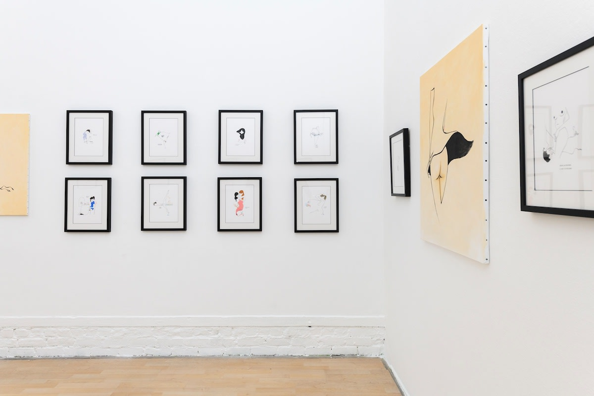 Installation view of petites luxures solo show at hashimoto contemporary