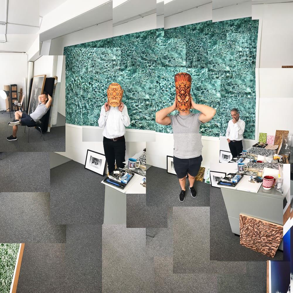 Joe Madeira studio visit with artist Maciej Urbanek