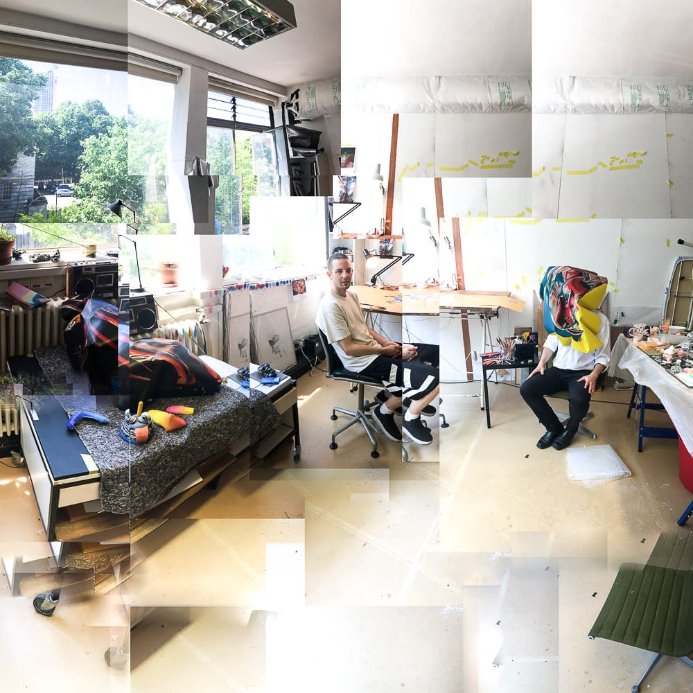 Joe Madeira studio visit with artist Elliot Dodd