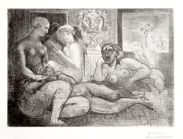 Sculptor studio with women
