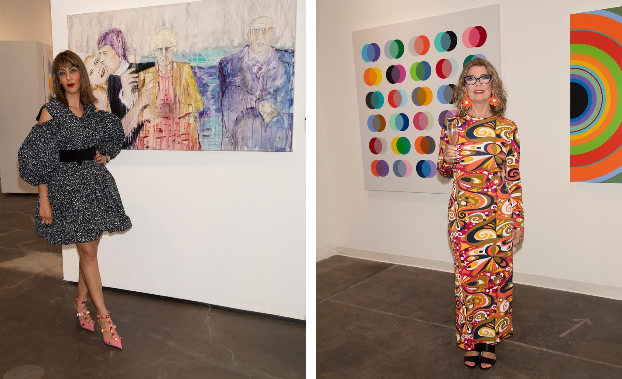 Artists Haleh Mashian & Angela Johal