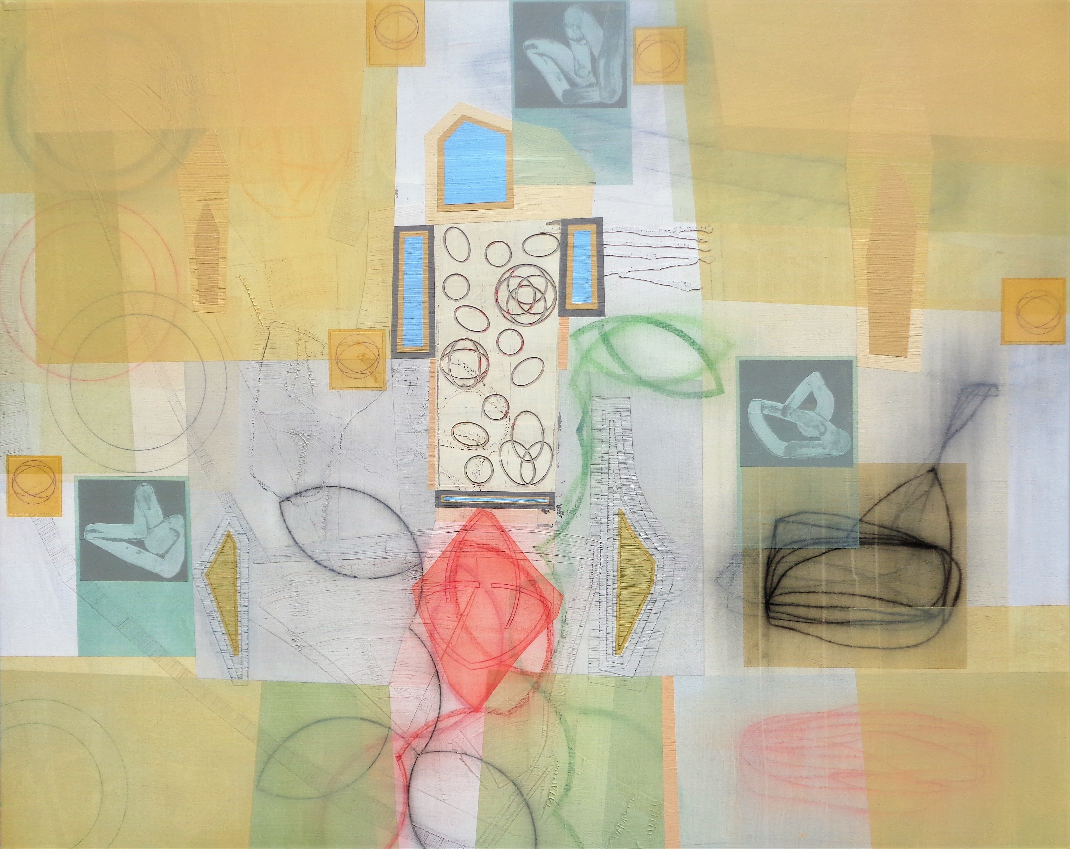 Michael Barringer, Bloomstone (Burnt Norton), mixed media on canvas, 48 x 60 inches