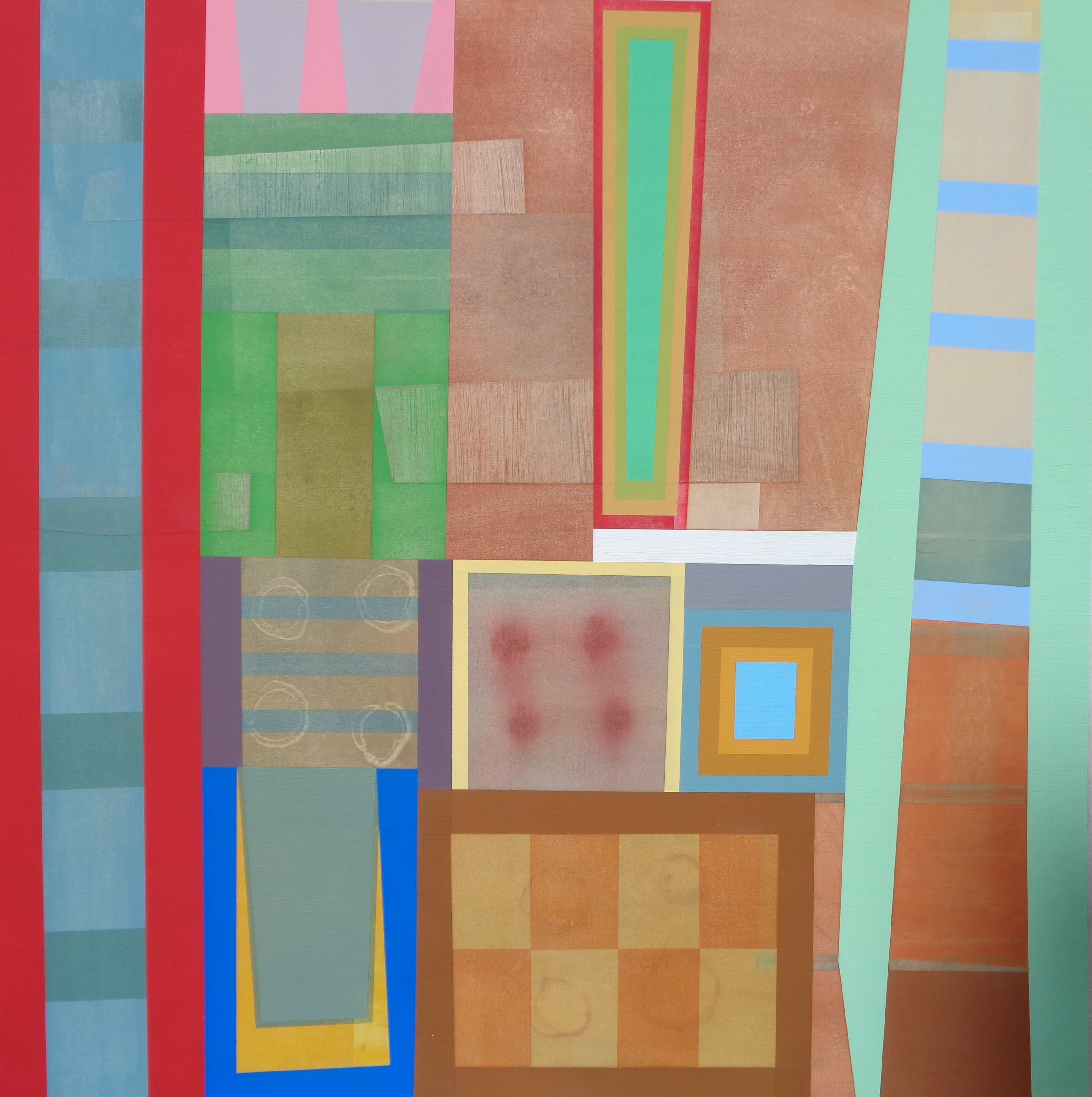 Michael Barringer, GB No. 7, mixed media on canvas, 48 x 48 inches