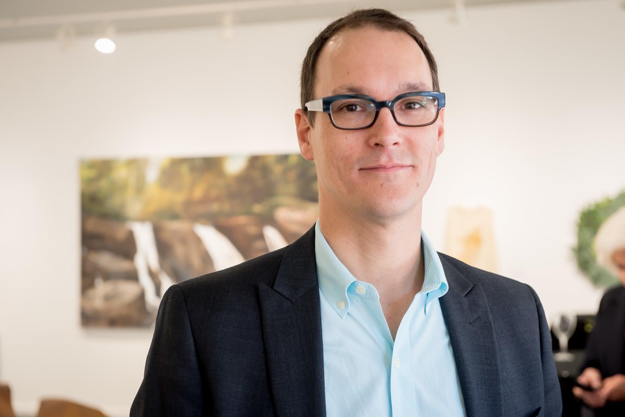 Jordan Ahlers, Owner/Director of Momentum Gallery