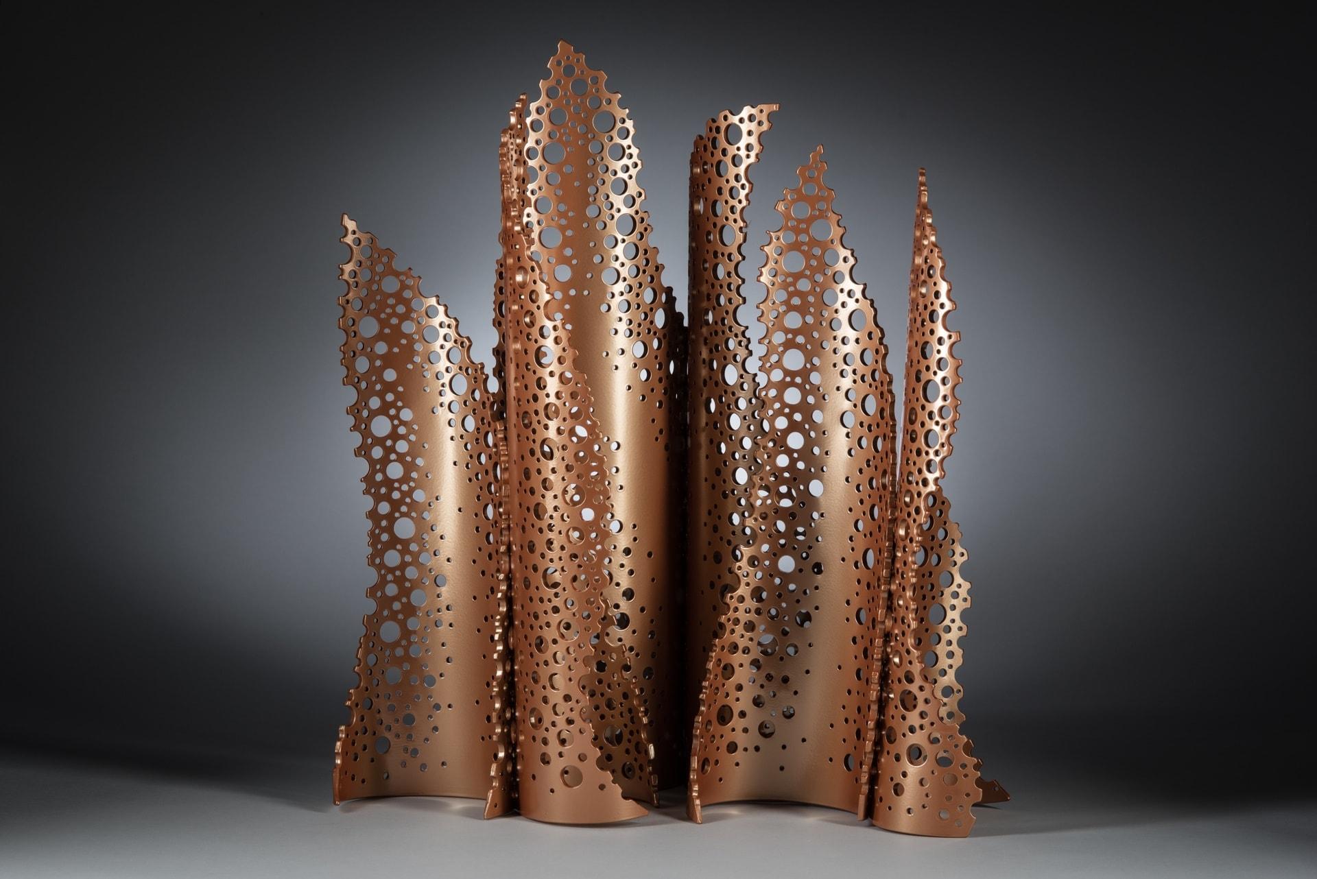 Michael Enn Sirvet, Kasha-Katuwe, powder-coated aluminum, 19 x 22 x 11 inches