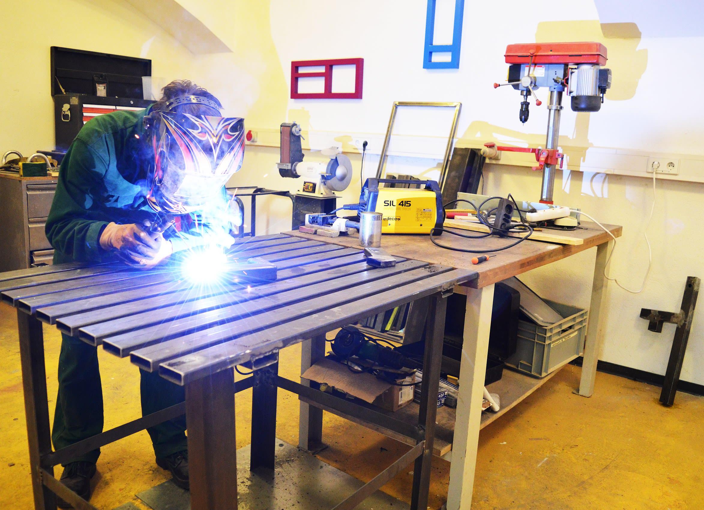 studio visit , steel , welding, work in progress