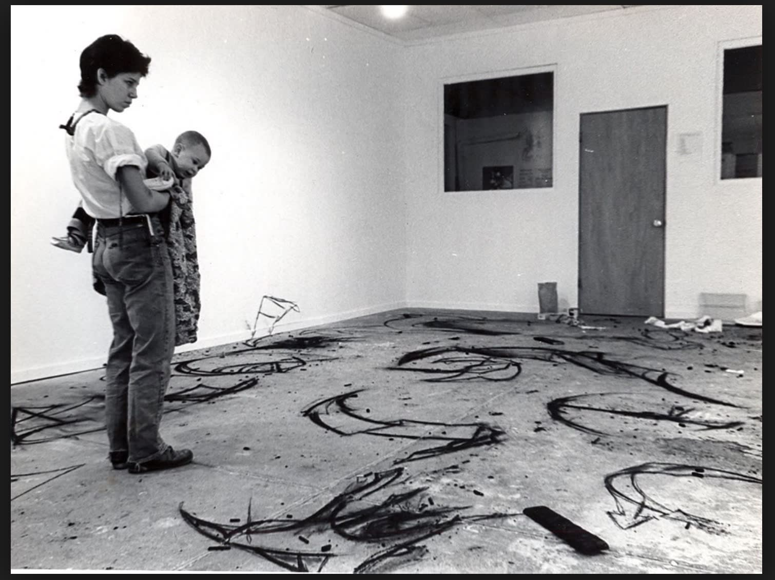 Judy Rifka and her son at the studio, 1978. (c) Judy Rifka and PULPO GALLERY