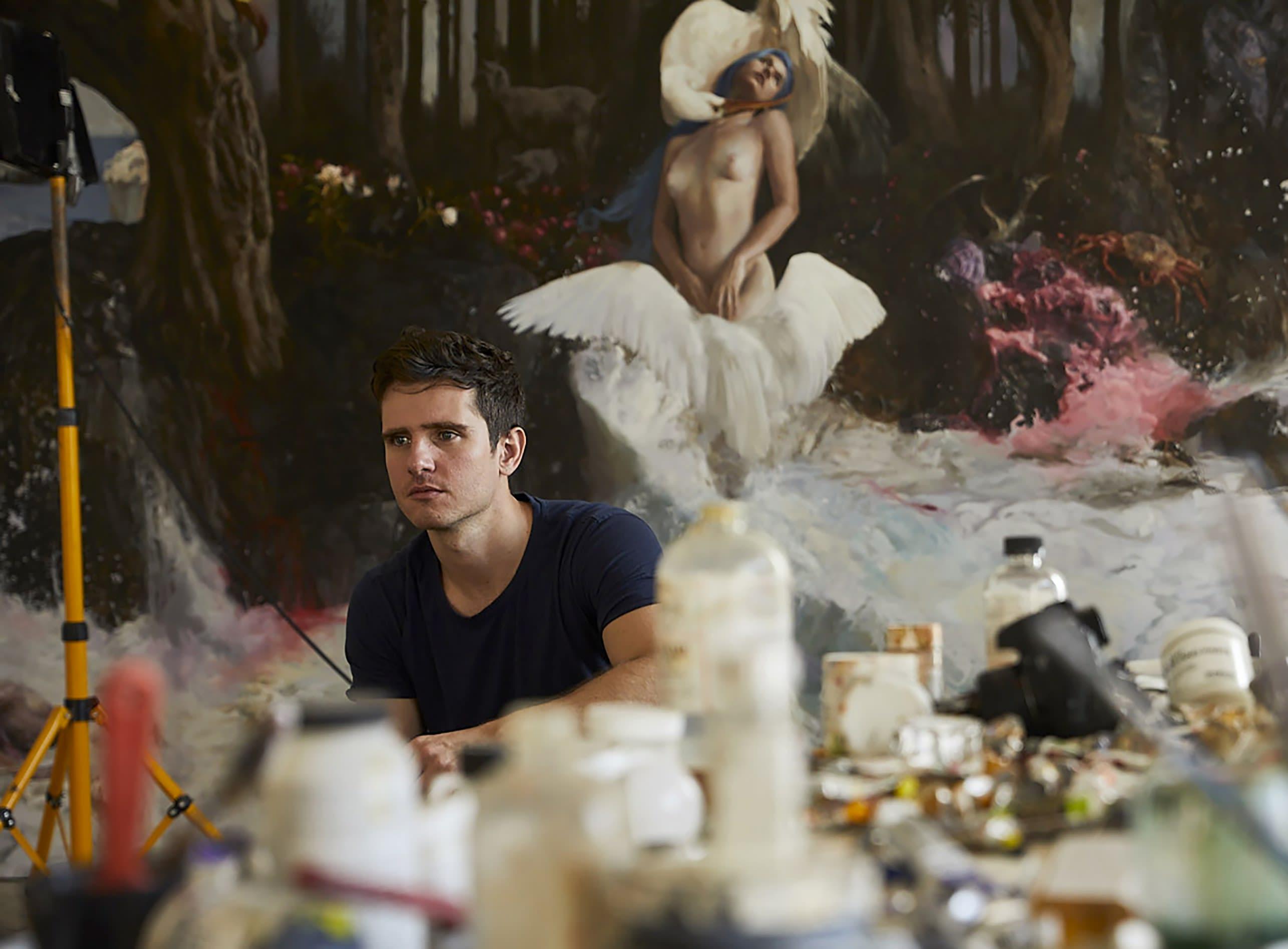 Guillermo Lorca in the studio