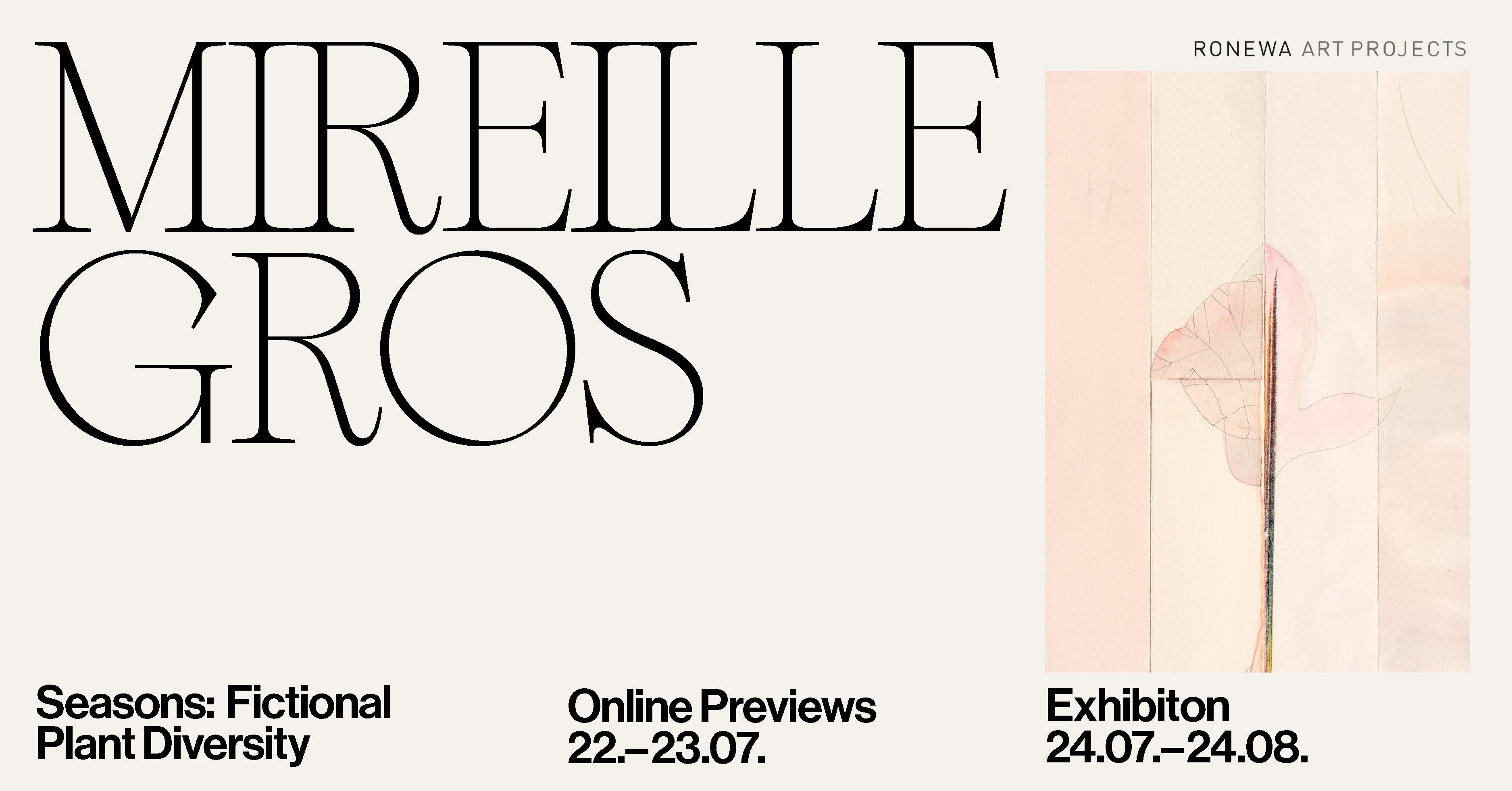 Mireille Gros online exhibition Ronewa Art Projects