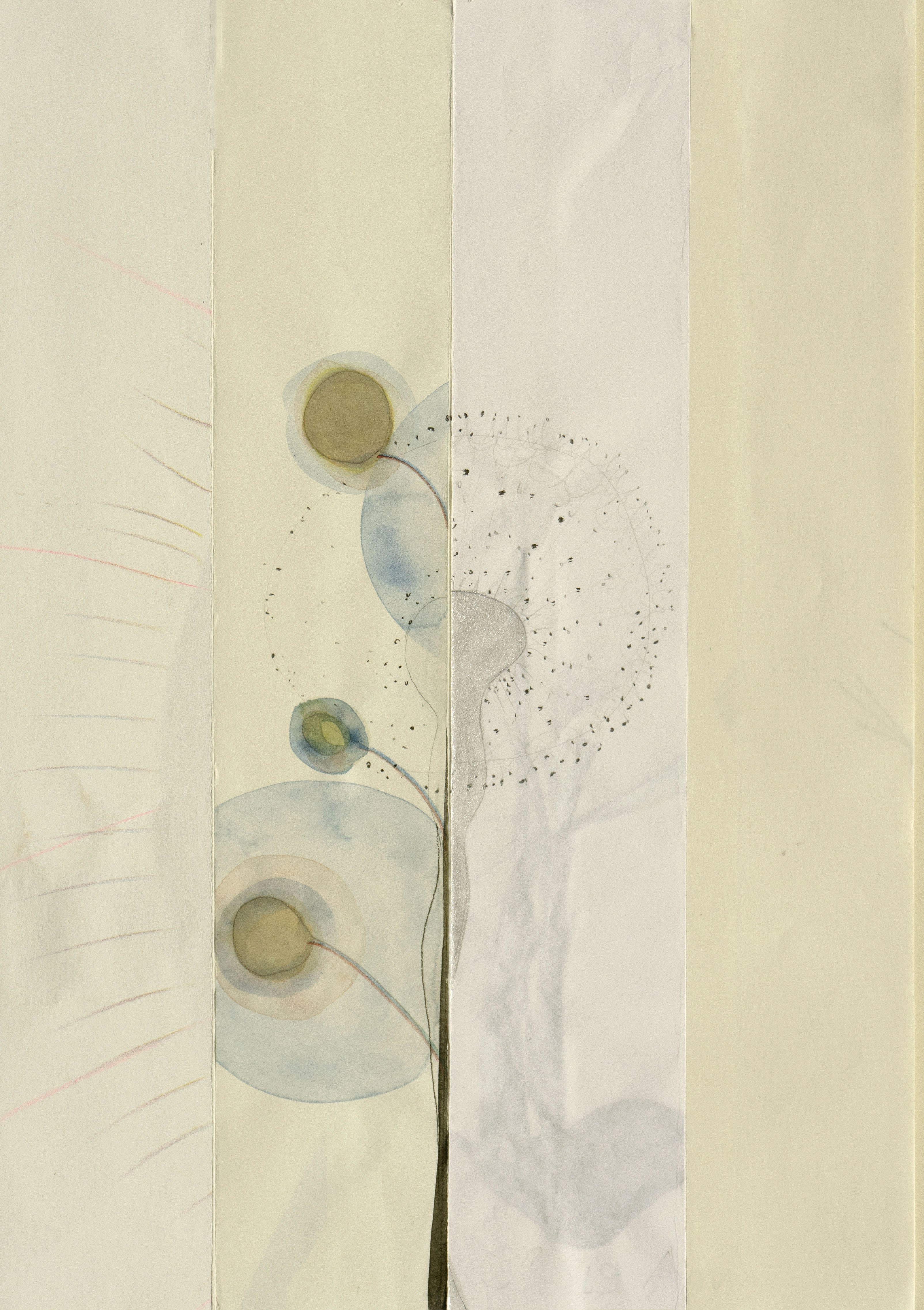 Mireille Gros, Seasons 14, pencil and watercolor on paper, online exhibition
