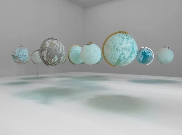 Julian Charrière, We Are All Astronauts, 2013. Installation view of Towards No Earthly Pole