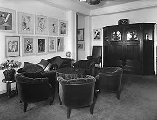 Interior salon of Das Geistreich Museum in Berlin