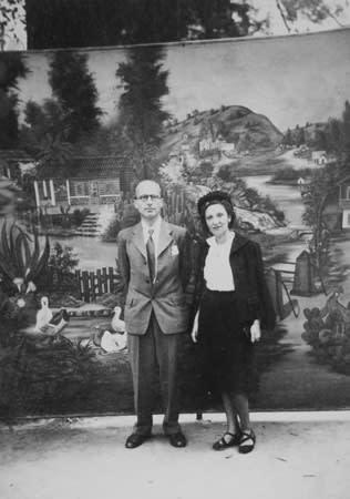 Kurt and Arlette Seligmann on their honeymoon, 1935.