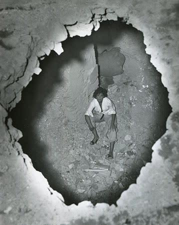 Leonor Fini in Torre San Lorenzo, Italy, 1952
