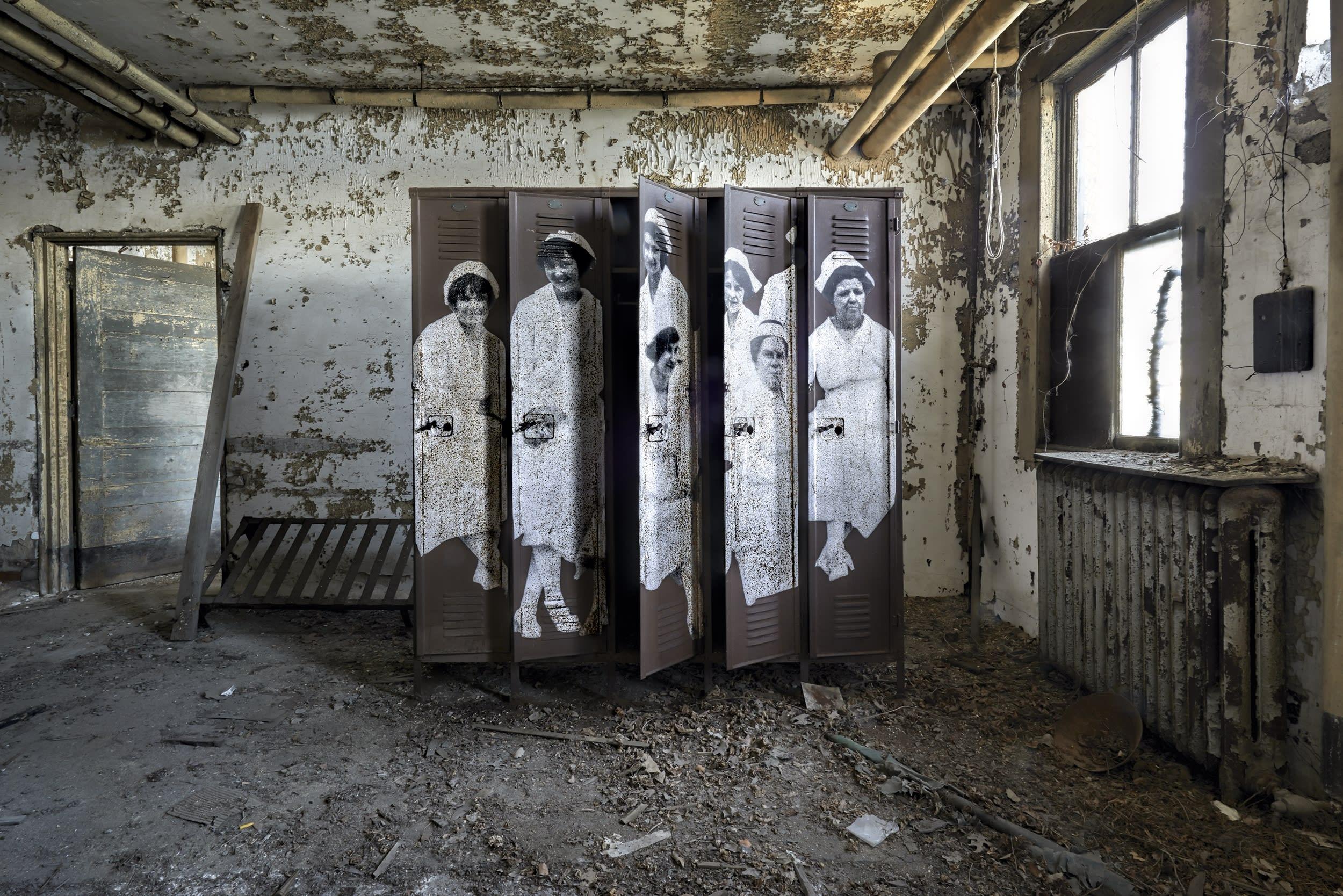 JR | Unframed, Ellis island