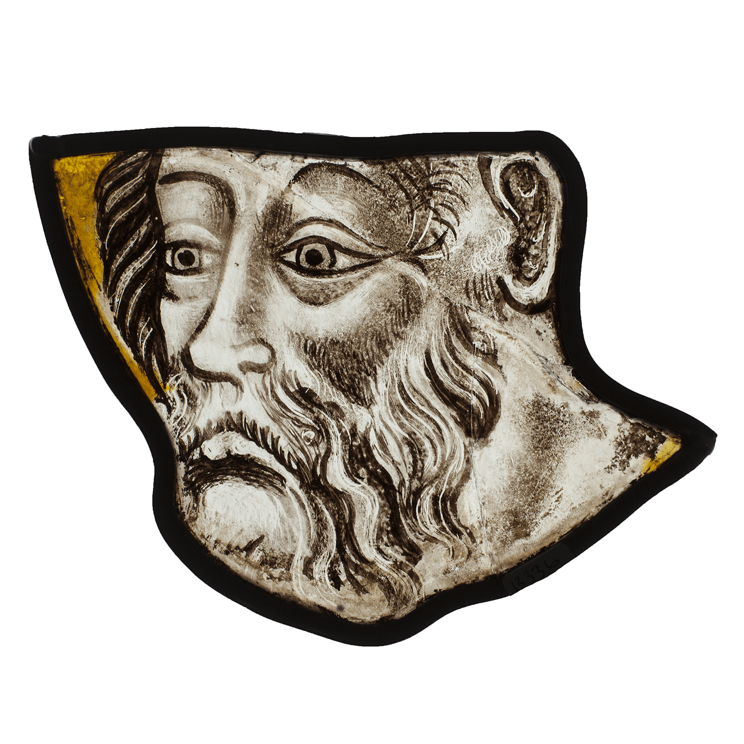 "<span class=""title""><em>The head of a bearded saint</em>, c. 1430s</span>"