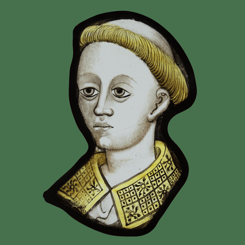 "<span class=""title""><em>Head of a tonsured cleric</em>, c. 1460 - 80</span>"