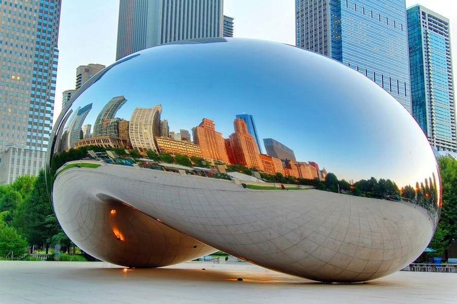 'Cloud Gate', aka 'the bean', Chicago, IL