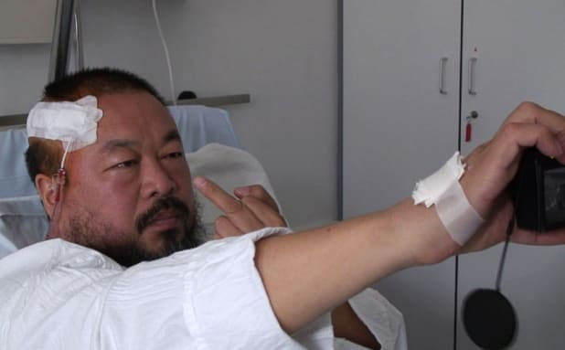 Ai Weiwei taking a selfie after being beaten up by the police / Image: Telegraph