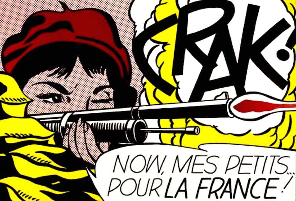 Roy Lichtenstein Crak! Lithograph