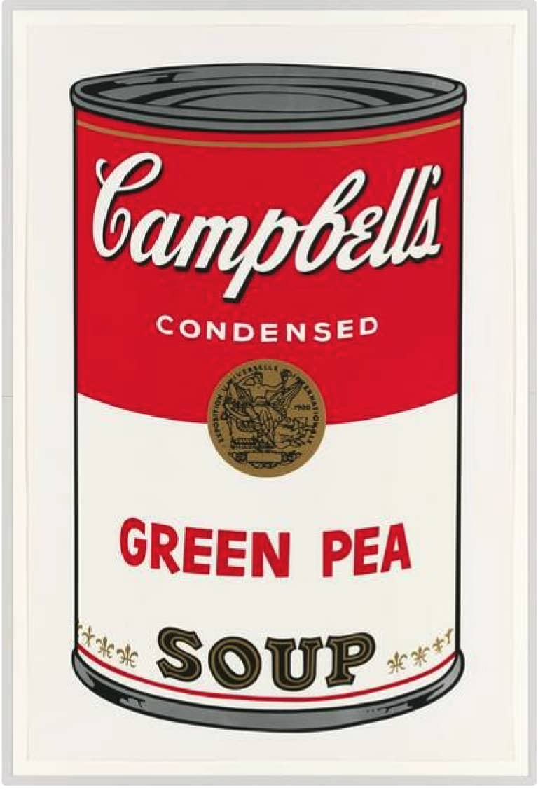Andy Warhol Green Pea Soup Screenprint in Colours on Wove Paper