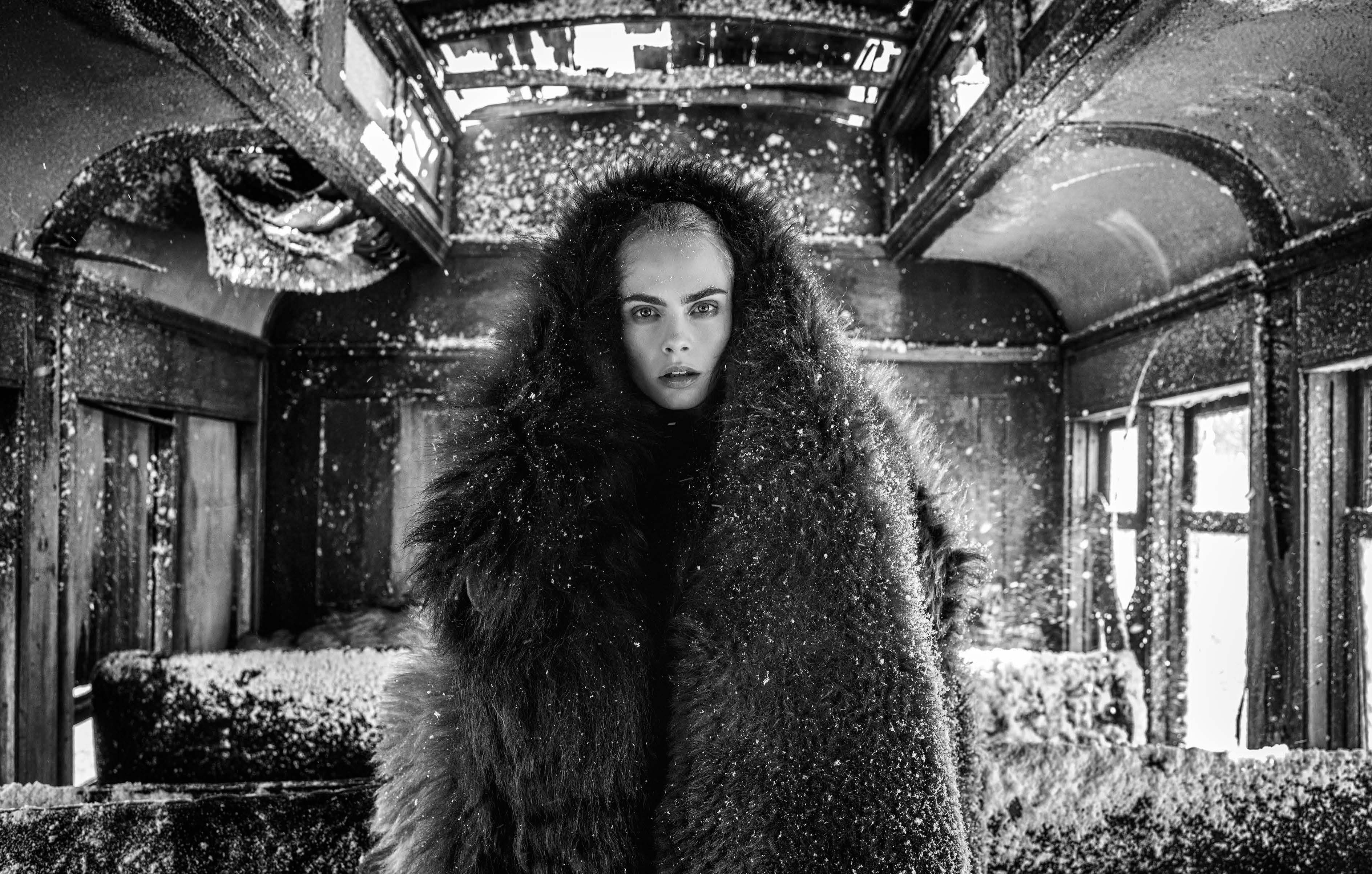 David Yarrow The Girl with the Lion Tattoo Archival Pigment Print