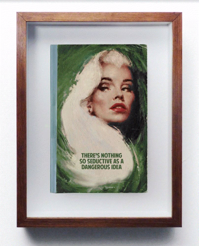The Connor Brothers So Seductive Hand painted vintage paperback book with silkscreen