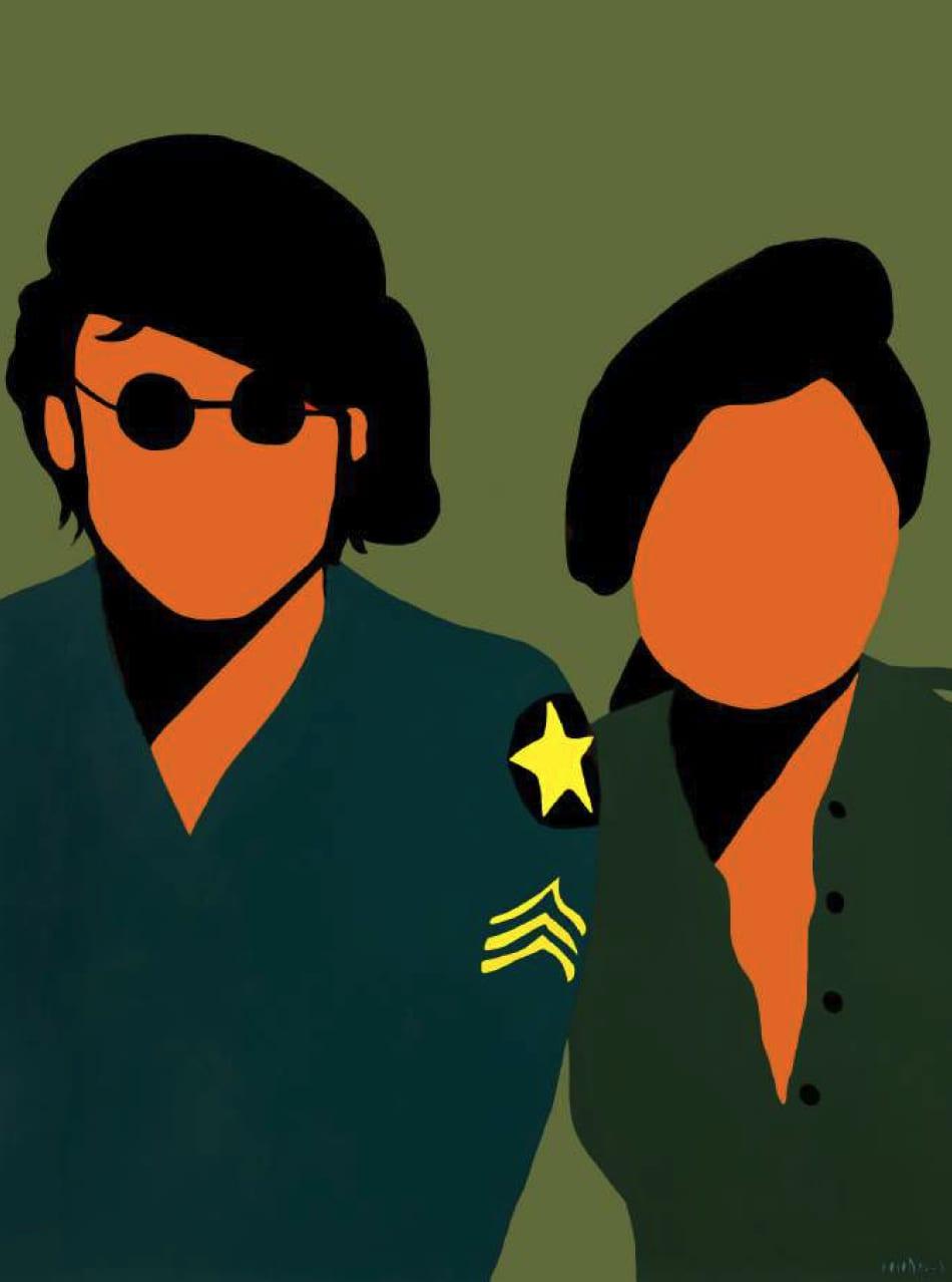 Coco Davez John & Yoko Commission Acrylic on Canvas