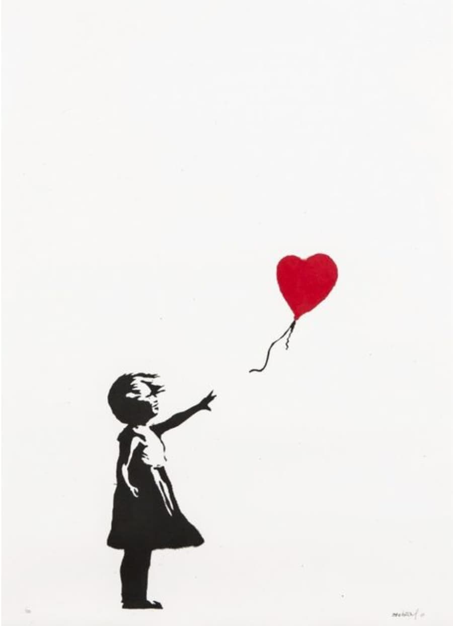Banksy Girl with Balloon (Signed) Screenprint on wove paper