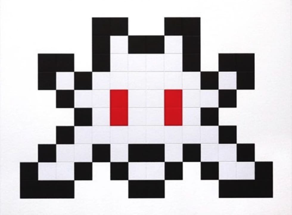 Invader Little Big Space Screenprint