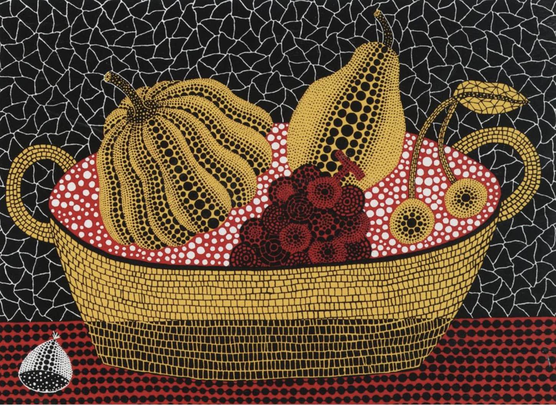 Yayoi Kusama Pumpkin and Fruits Screenprint on paper