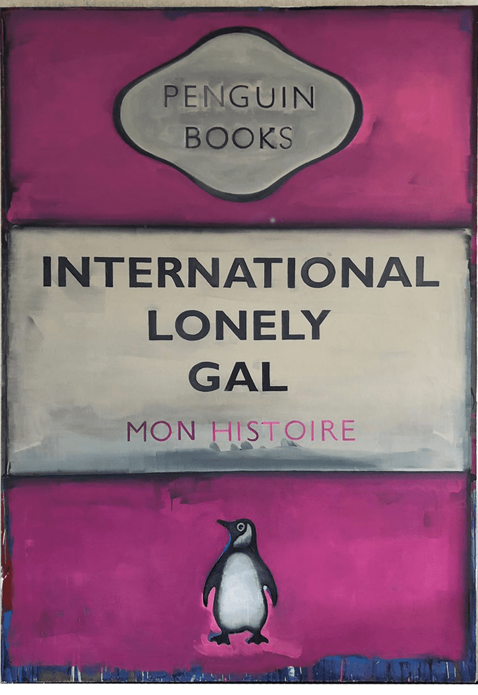 Harland Miller International Lonely Gal Oil on canvas