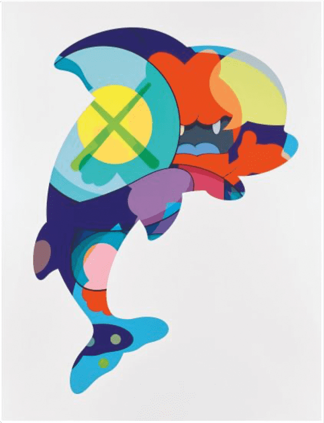 KAWS Piranhas When You're Sleeping Screenprint in Colours on Wove Paper with Full Margins