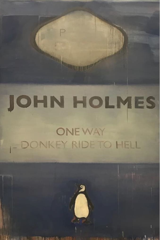 Harland Miller One Way Donkey Ride to Hell Oil on canvas