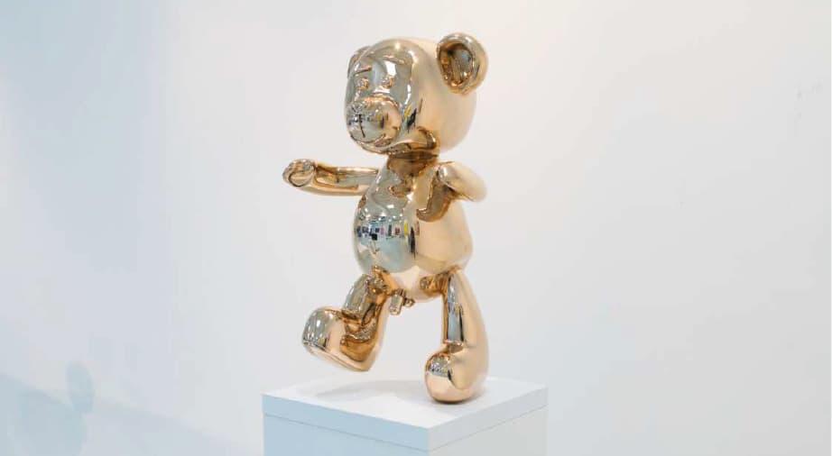 Joseph Klibansky Bare Hug Polished Bronze Sculpture